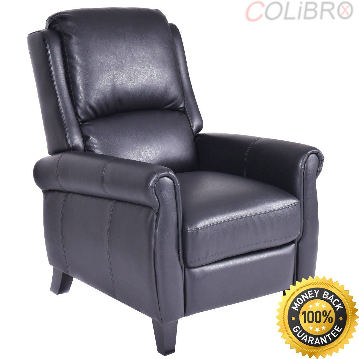 Colibrox Leather Recliner Accent Chair Push Back Living Room Home Furniture W Leg Rests Best Push Back Recliner Re Leather Recliner Recliner Chair Recliner
