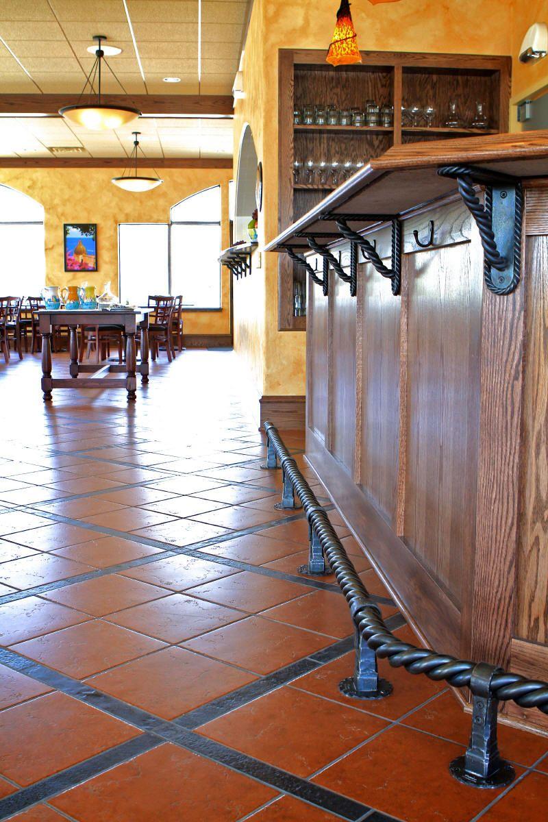Bar Foot Rail Gallery look under the bar iron work