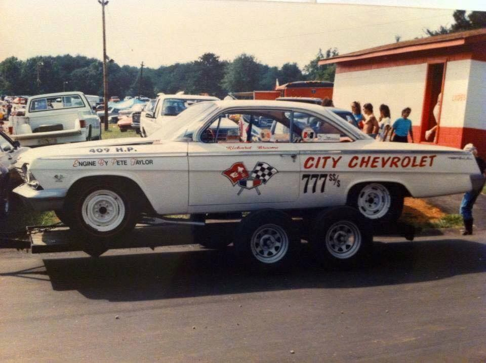 Awesome 1962 bubble top 409, sponsored by City Chevrolet. | A/FX and ...