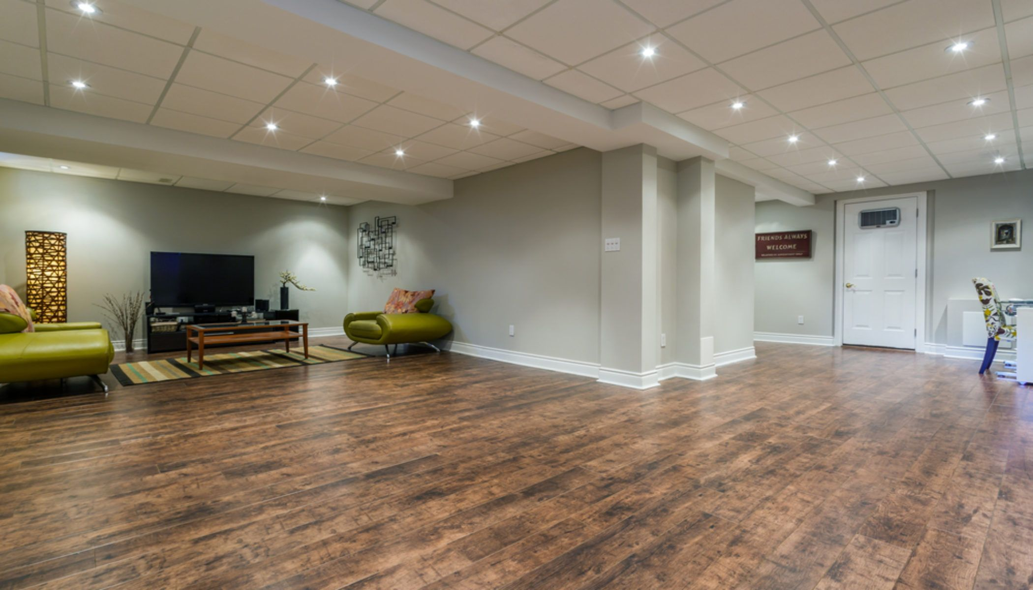 4 Of The Best Options For Basement Flooring In Your Home Finishing Basement Best Flooring For Basement Basement Flooring