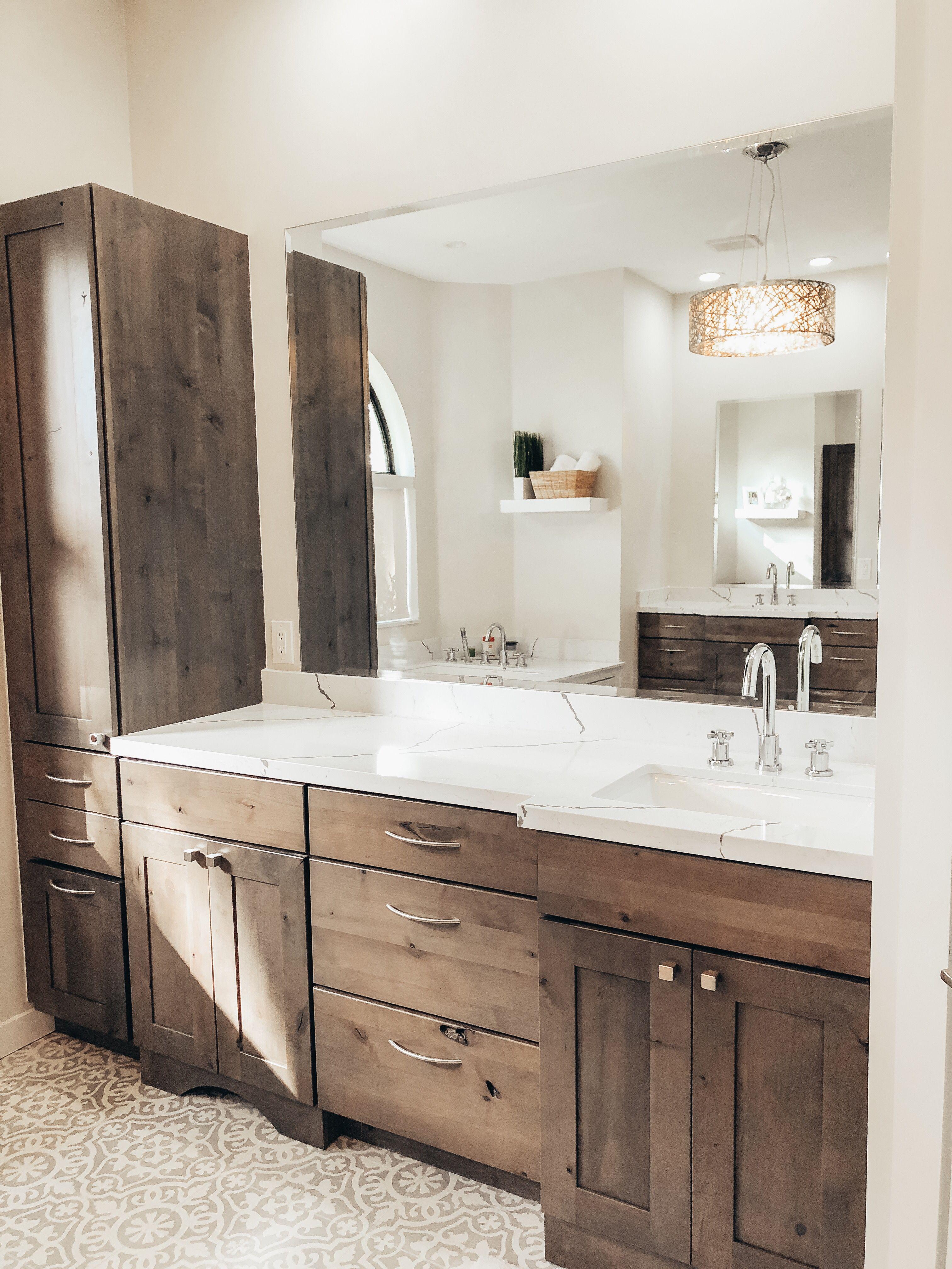 Our New Master Bathroom Bathroom Remodel Master Alder Kitchen Cabinets Alder Cabinets