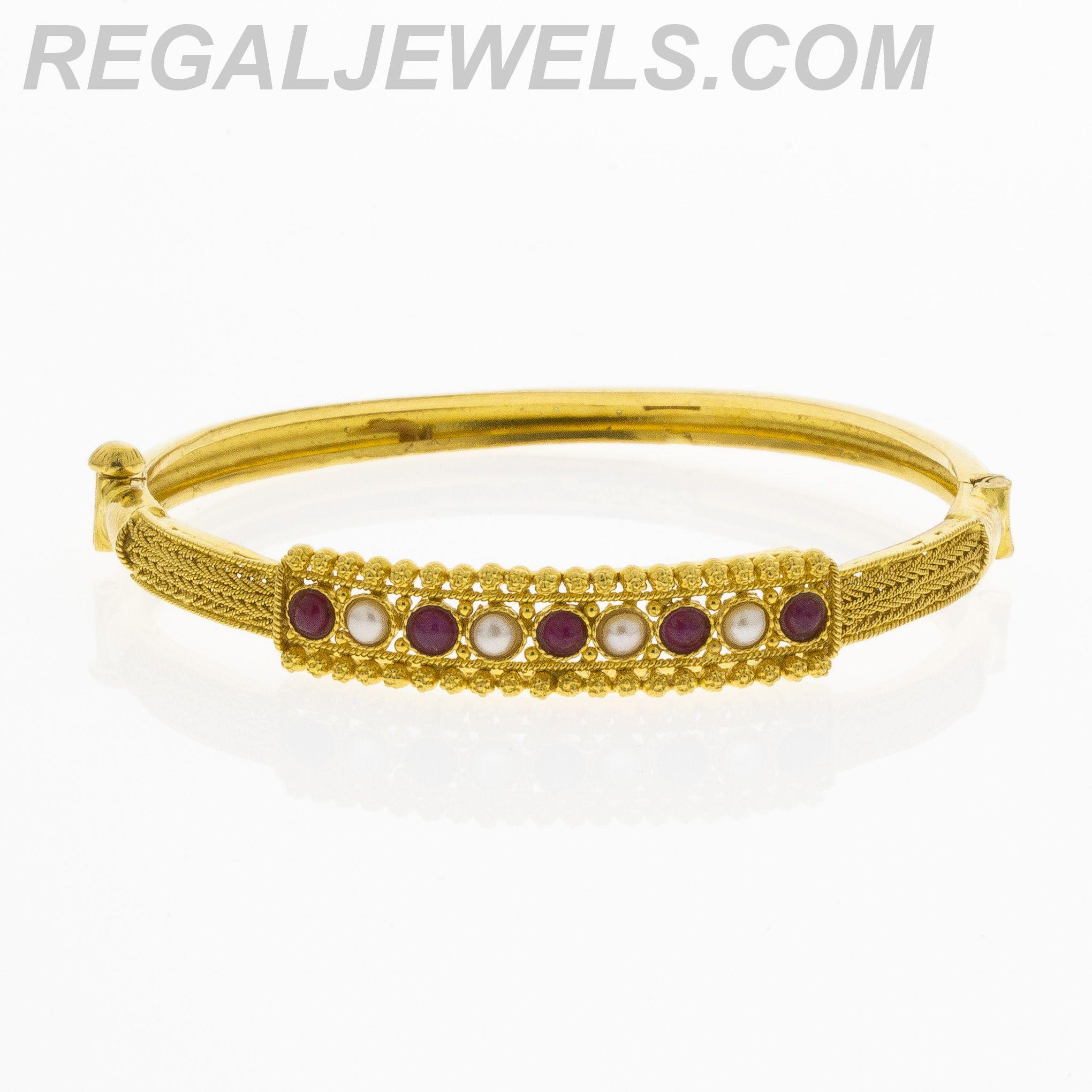 Regal Jewels Online - Indian Jewelry - 22KT Gold Uncut Ruby Fresh ...