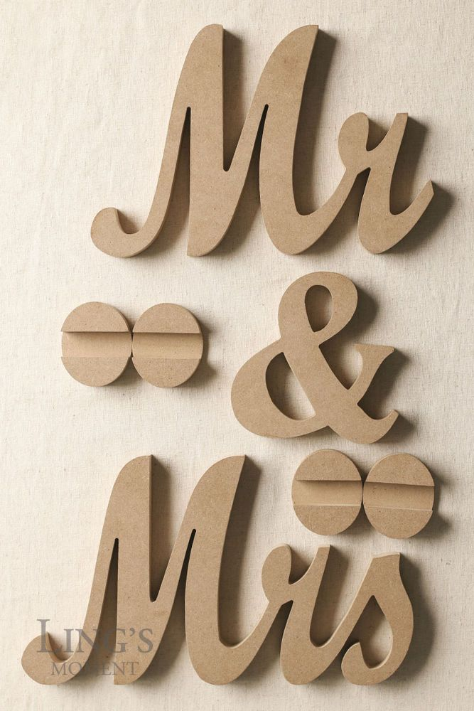Mr And Mrs Wedding Signs For Top Table Decorations Mr And Mrs