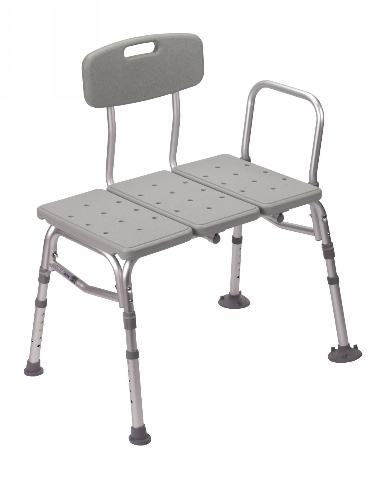 Shower Chair Vs Tub Transfer Bench Clear Dining Chairs Uk Plastic With Adjustable Backrest Bathroom Safety