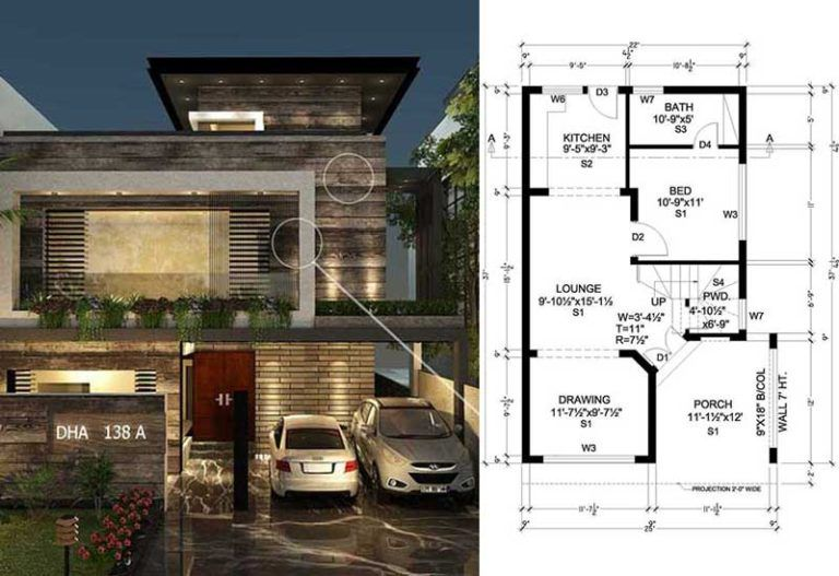 Contemporary House Design By 3 House Architects 5 Marla House With Images Contemporary House Design Contemporary House House Design