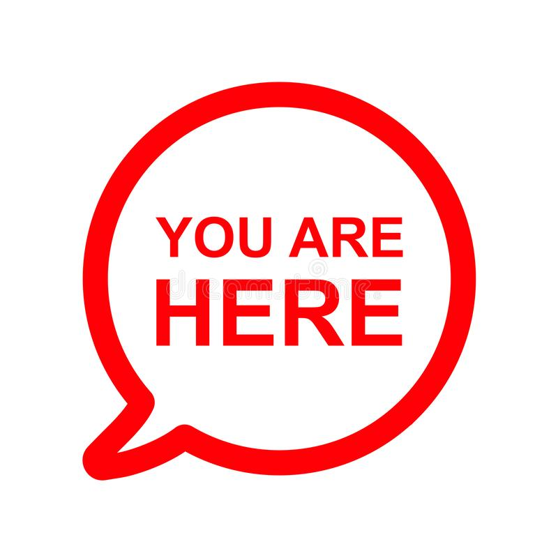 You Are Here Speech Bubble Icon Stock Illustration Speech Bubble Speech Illustration