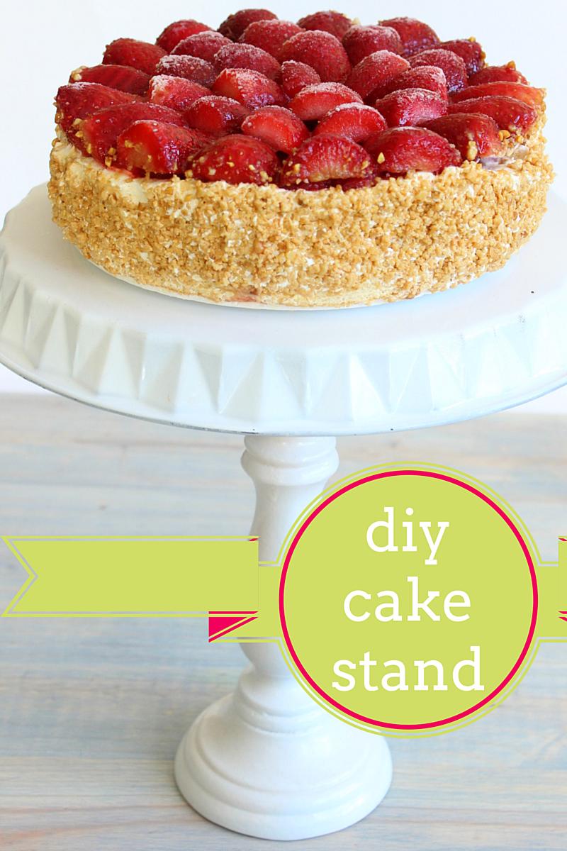 DIY Cake Stand Tutorial   Diy wedding cake, Pie tin and Cake