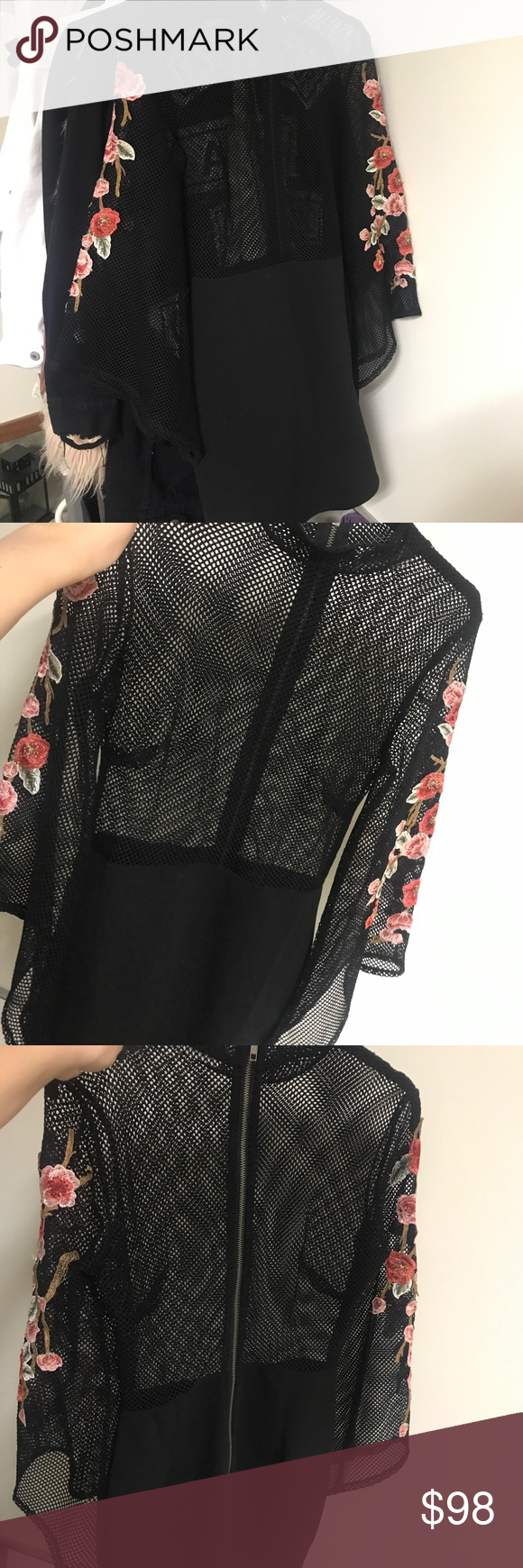Lf mesh rose dress black mesh customer support and delivery