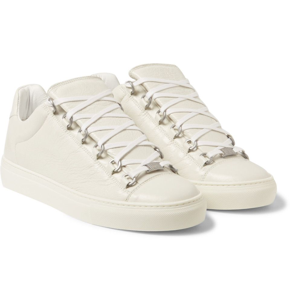 86c611dae22eb Balenciaga - Arena Creased Leather Low-Top Sneakers
