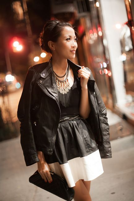 Love this whole outfit, particularly the lillith fringe Stella & Dot Necklace - rocker chic!