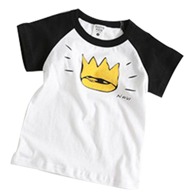 >> Click to Buy << Fashion Handsome Boys Girls T-shirt Cartoon Casual Cotton Crown Pattern Children's Clothes Comfortable Short-sleeve Kids T shirt #Affiliate