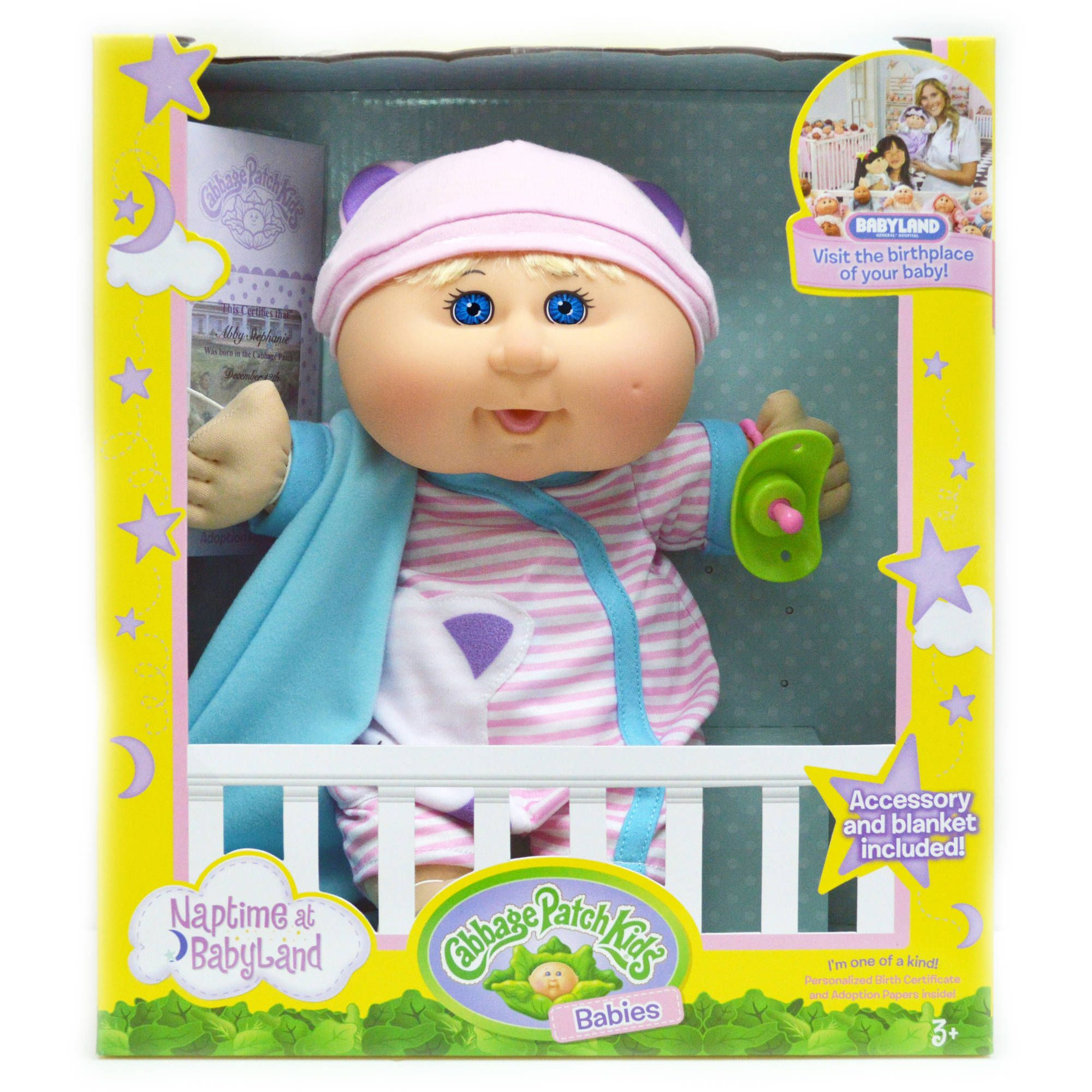 Cabbage Patch Kids Naptime Babies Doll Bald Blue Eye Girl Walmart Com Cabbage Patch Kids Cabbage Patch Babies Patch Kids