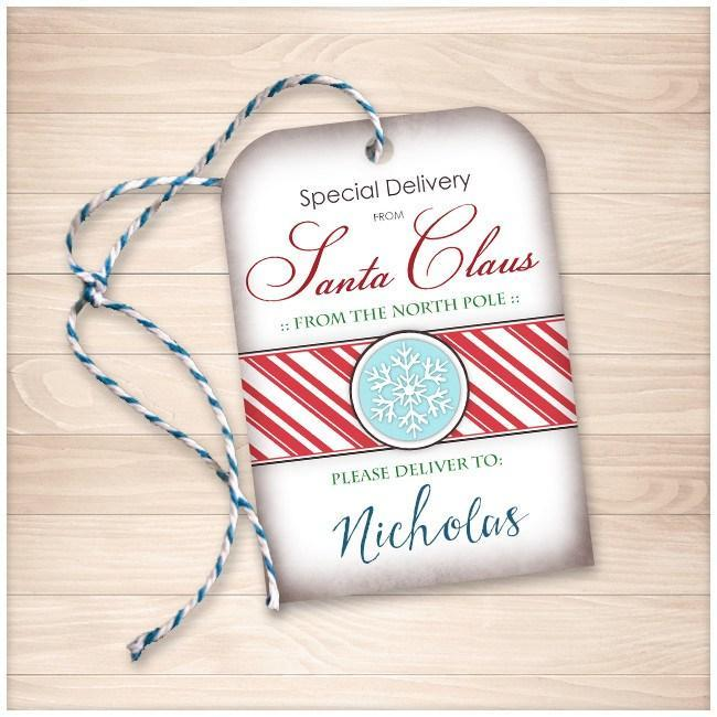 Special delivery from santa claus personalized gift tags special delivery from santa claus personalized gift tags printable negle Images