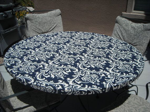 Round Fitted Tablecloth Ozbourne Deep, Round Table Cover With Elastic
