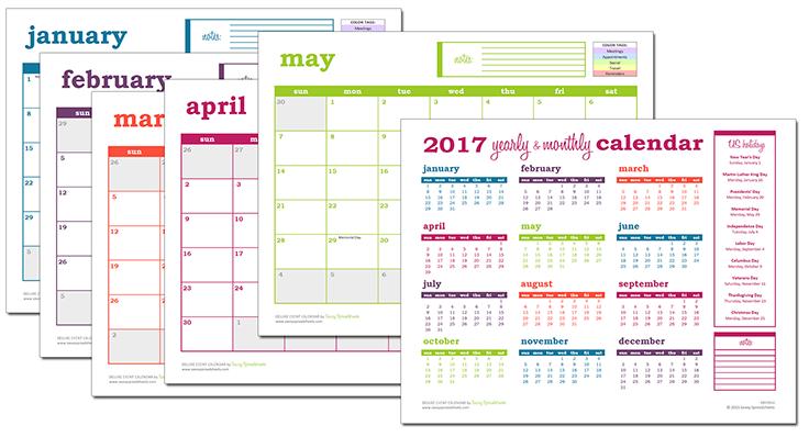 Deluxe Excel Calendar Excel Template