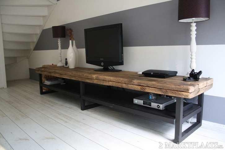 Tv Kast Industrieel : Tv meubel industrieel moodboard house lowboard
