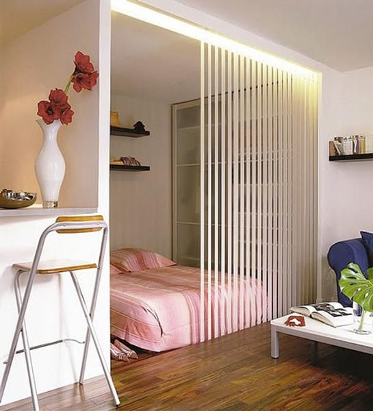 Creative partition wall design ideas improving open small - Divider ideas for studio apartments ...