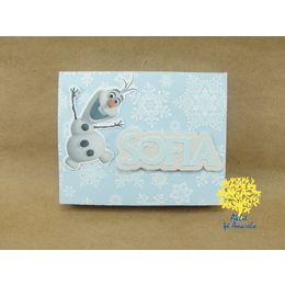 Convite Frozen Flocos de Neve