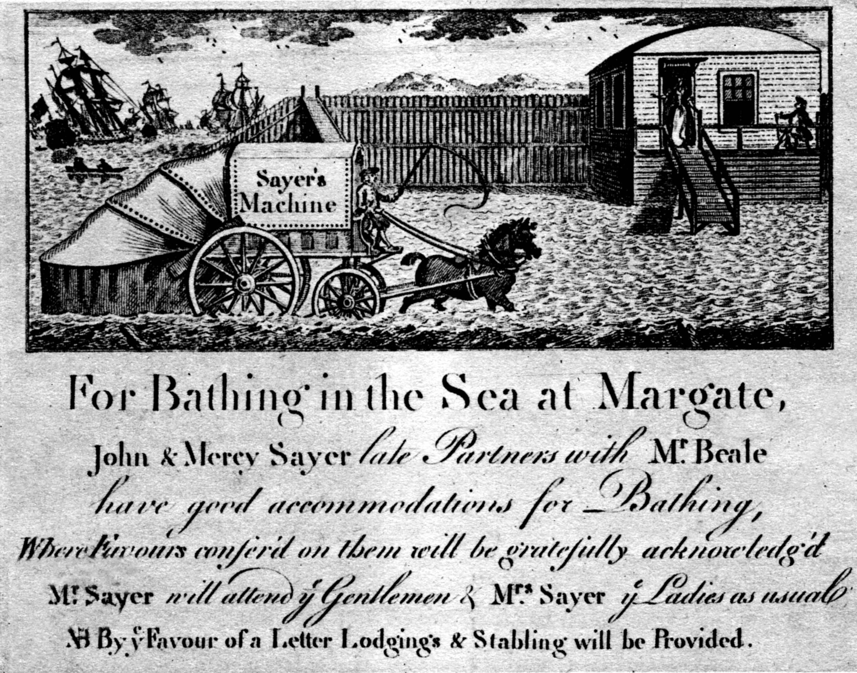 margate bathing machine advertisement bathing machines u0026 seaside