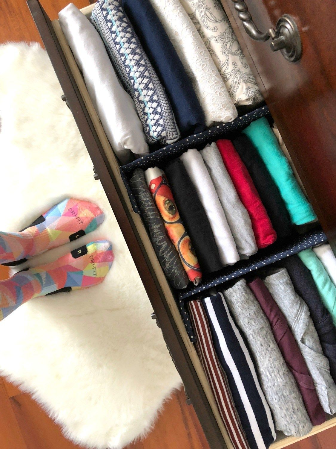 Diy Fabric Drawer Dividers With Images Clothes Drawer