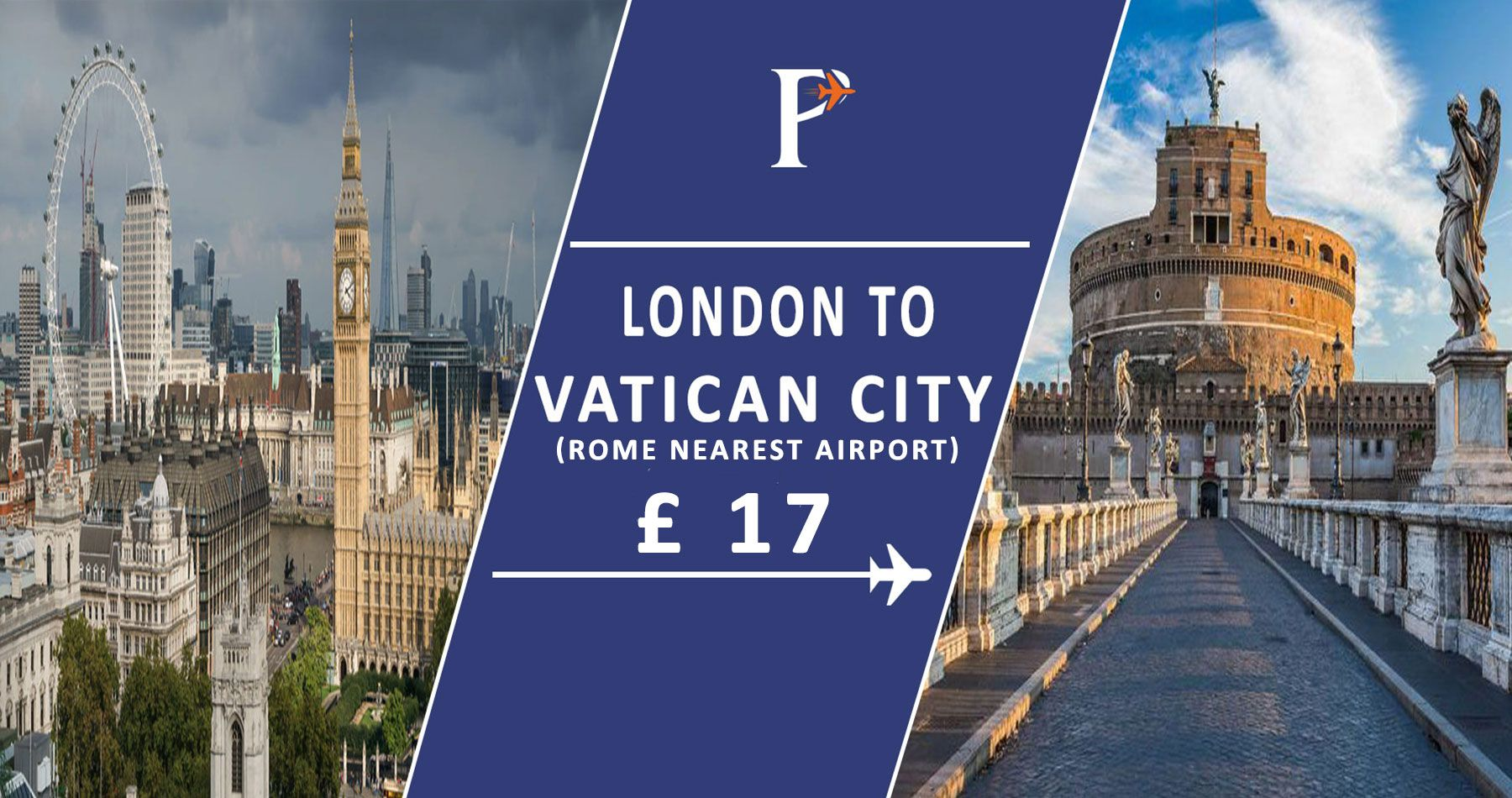 offers cheap flights to Vatican City (in