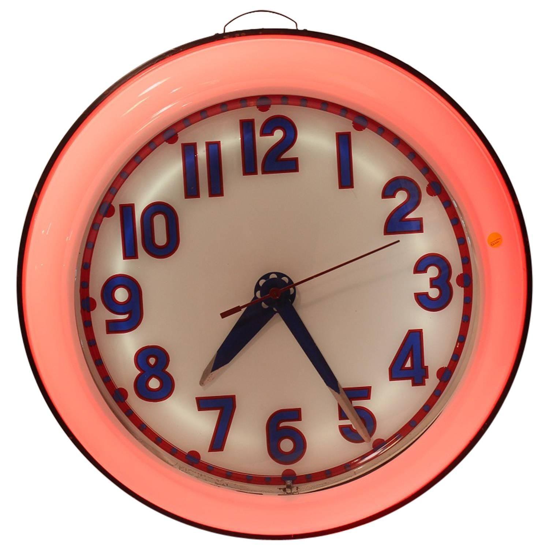 1930s Cleveland Neon Clock 1stdibs Com Neon Clock Antique Wall Clocks Clock
