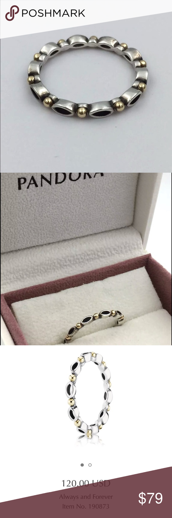0a123d1fb PANDORA Always & Forever 14k S925 ALE 54 RING !!! AUTHENTIC PANDORA  Always