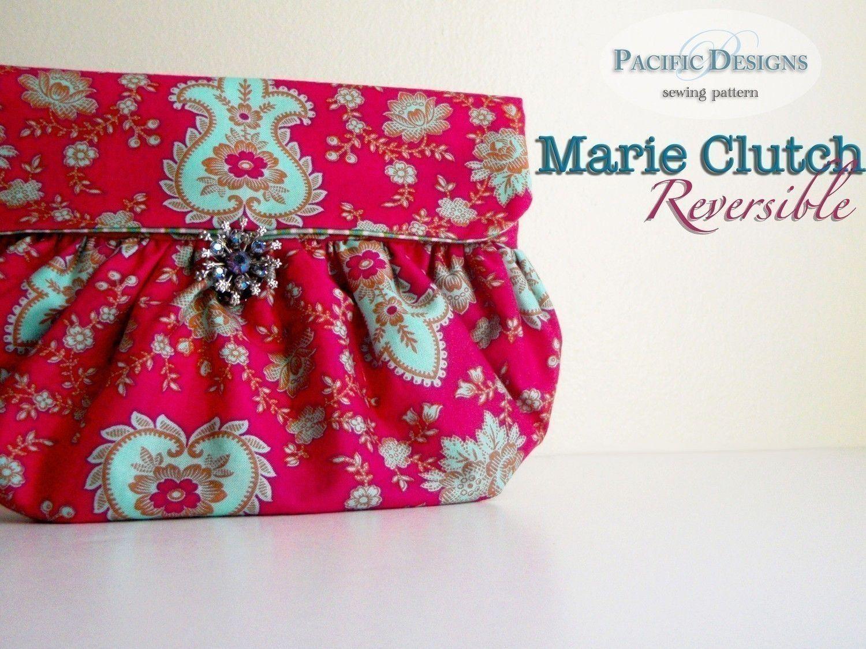 Handbag sewing pattern marie reversible clutch pdf pattern handbag sewing pattern marie reversible clutch pdf pattern 650 via etsy jeuxipadfo Gallery