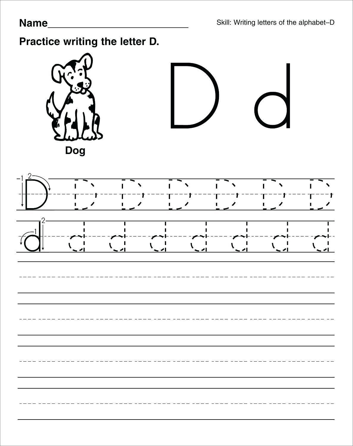 Printable Letter Tracing For Preschool