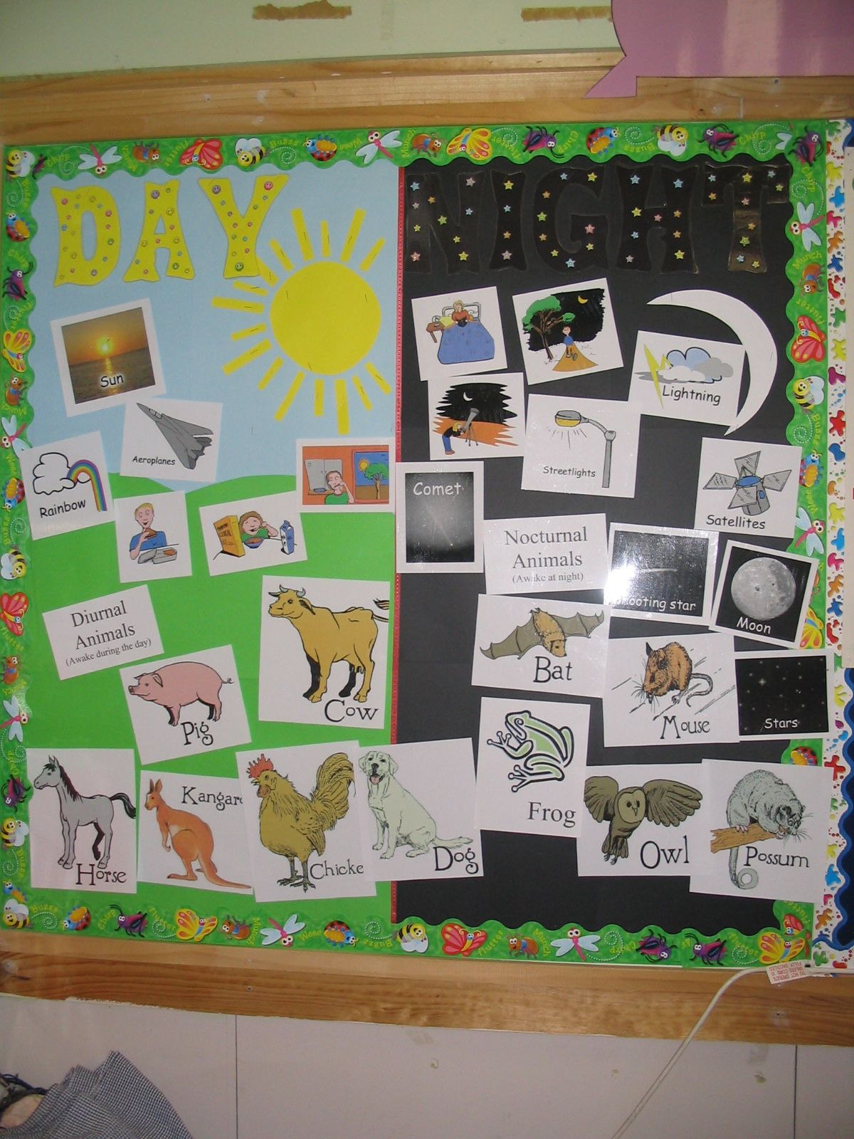 Day Or Night Interactive Bulletin Board