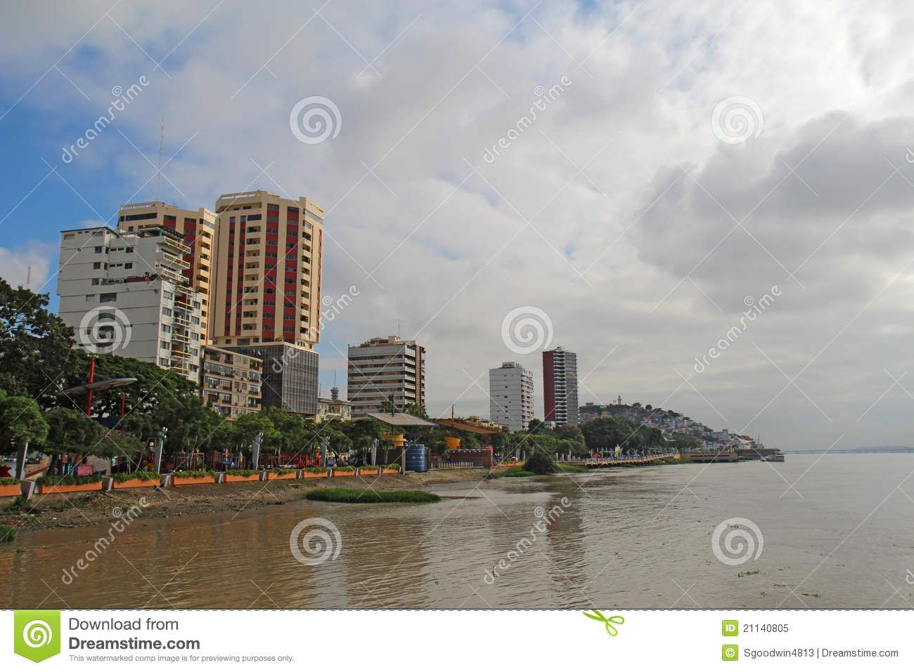 Section of the Malecon 2000 in Guayaquil, Ecuador. View of the northern part of #Sponsored , #ad, #advertisement, #Malecon, #northern, #part, #Section