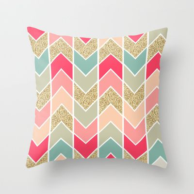 Distorted Chevron In Dream Sequence Throw Pillow Home