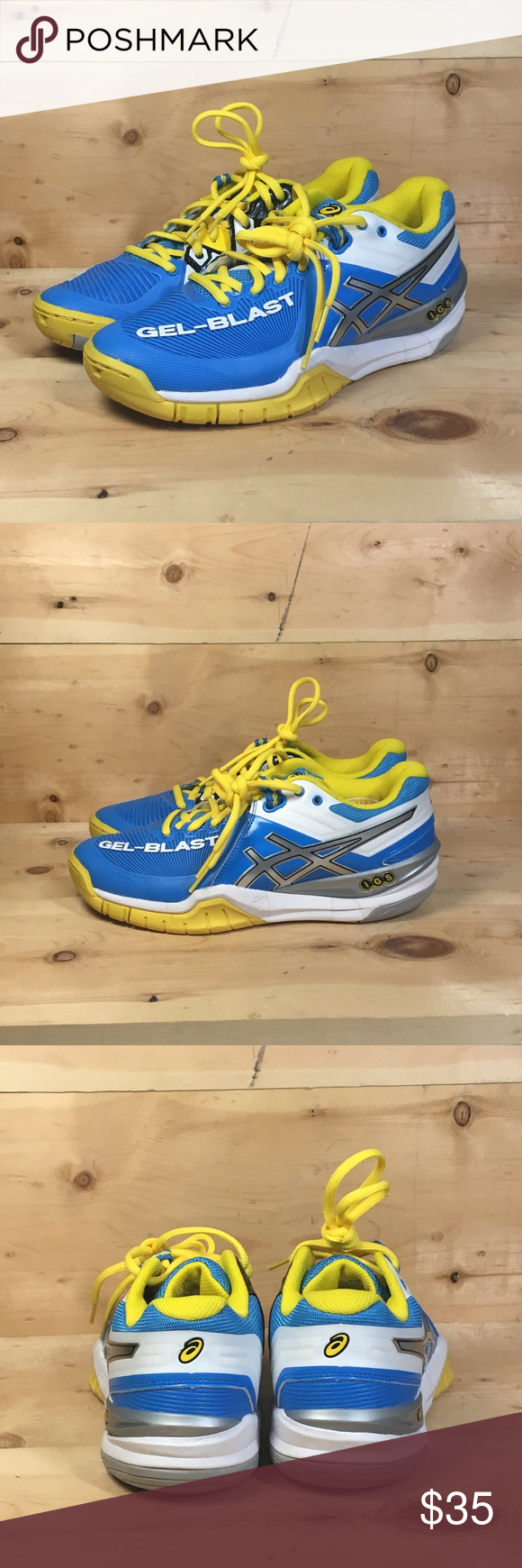 Asics Gel Blast Igs Asics E463y Gel Blast Igs Indoor Volleyball Shoes Size 7 Asics Shoes Athletic Shoes In 2020 Volleyball Shoes Asics Women Asics Gel