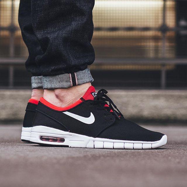 Nike Stefan Janoski Máximo L Zapato - Boda En Blanco Y Negro Y Rojo Footaction aclaramiento Y5M3hIwU