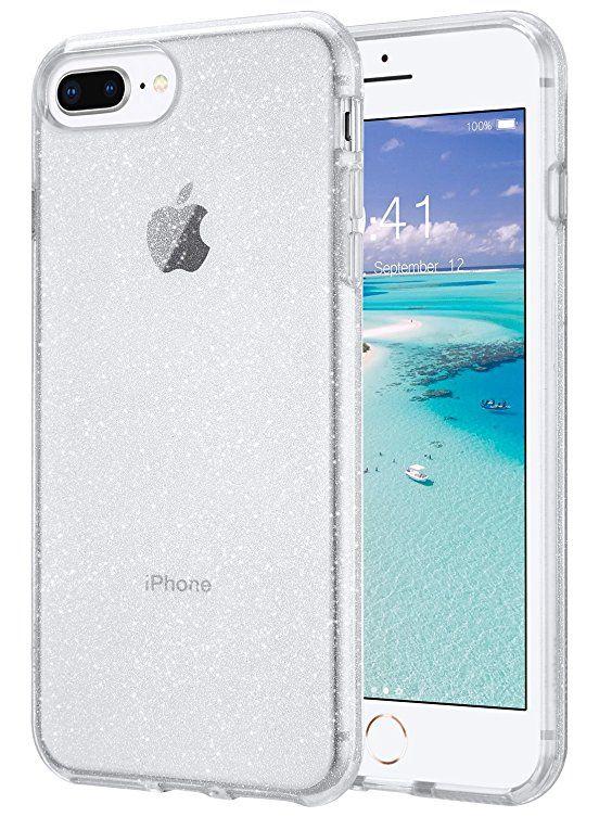 Amazon Com Iphone 7 Plus Case Iphone 8 Plus Case Ulak Apple Iphone 7 8 Plus Crystal Clear Shock Absorption Technol Glitter Iphone Iphone Glitter Iphone Case
