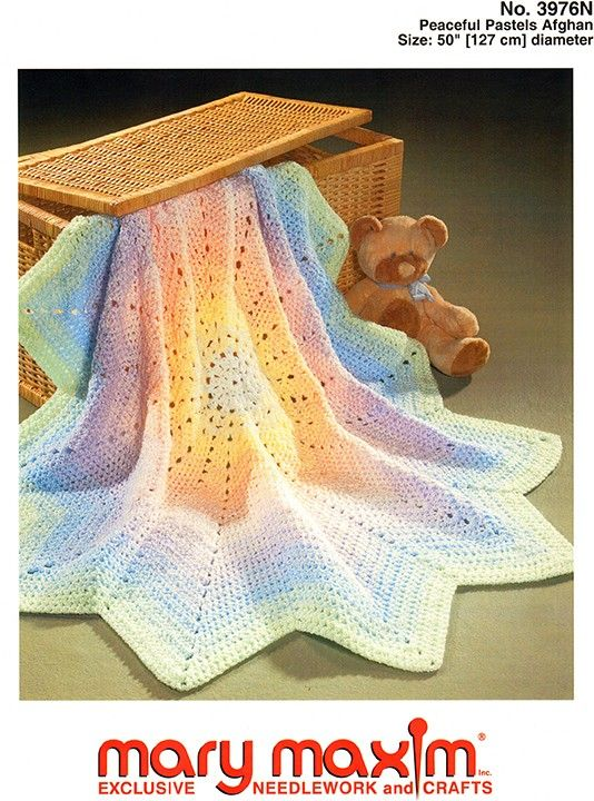 Crochet this afghan using Bernat Baby Coordinates yarn. | Crochet ...