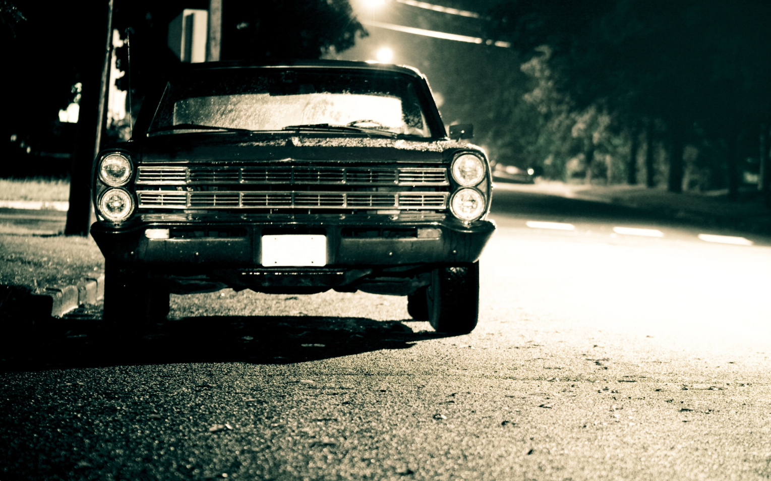 Scary Night Car Classic Cars Car Wallpapers Car Ford