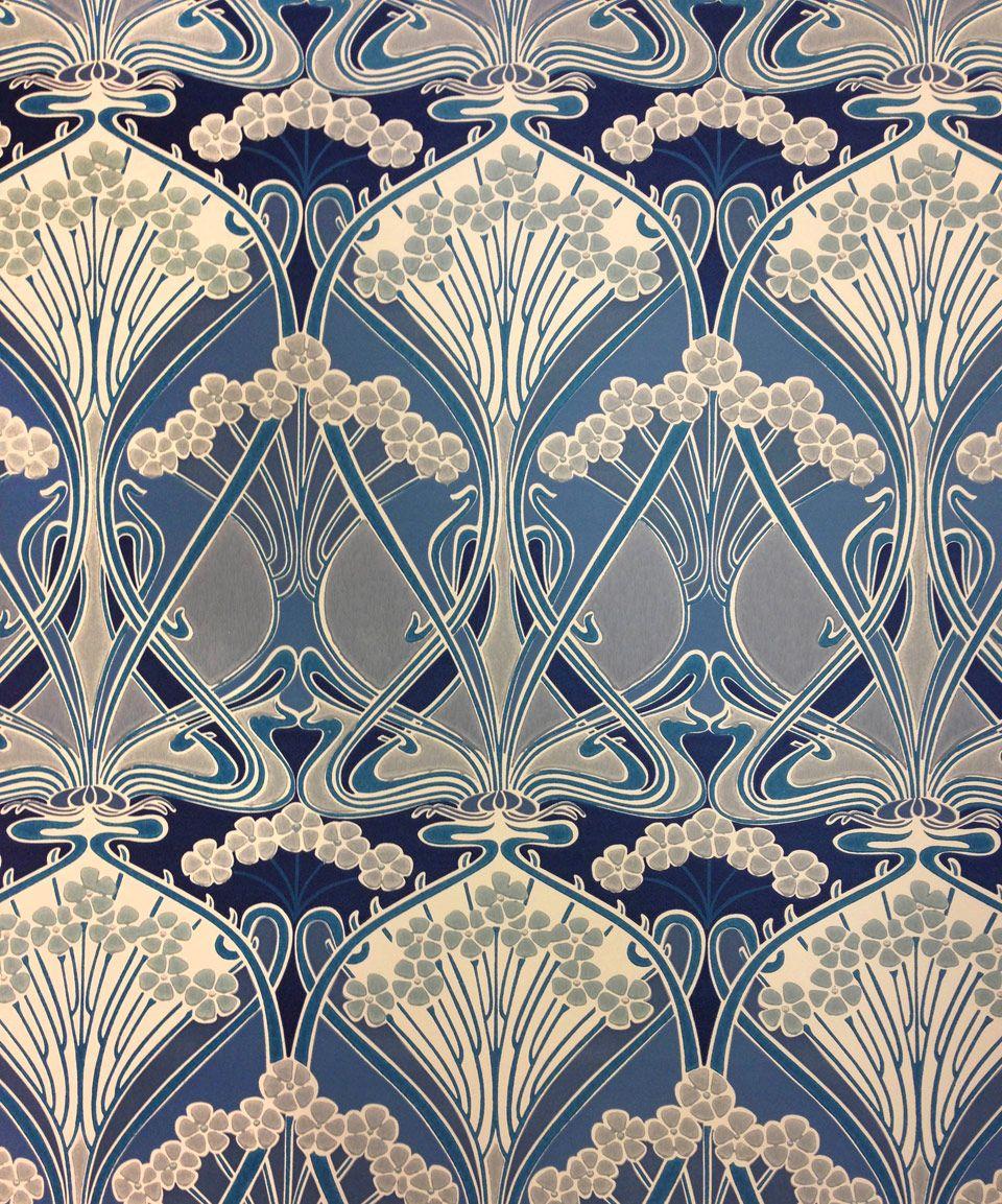 Wallpaper- Liberty Furnishing Fabrics Ocean Ianthe Flower