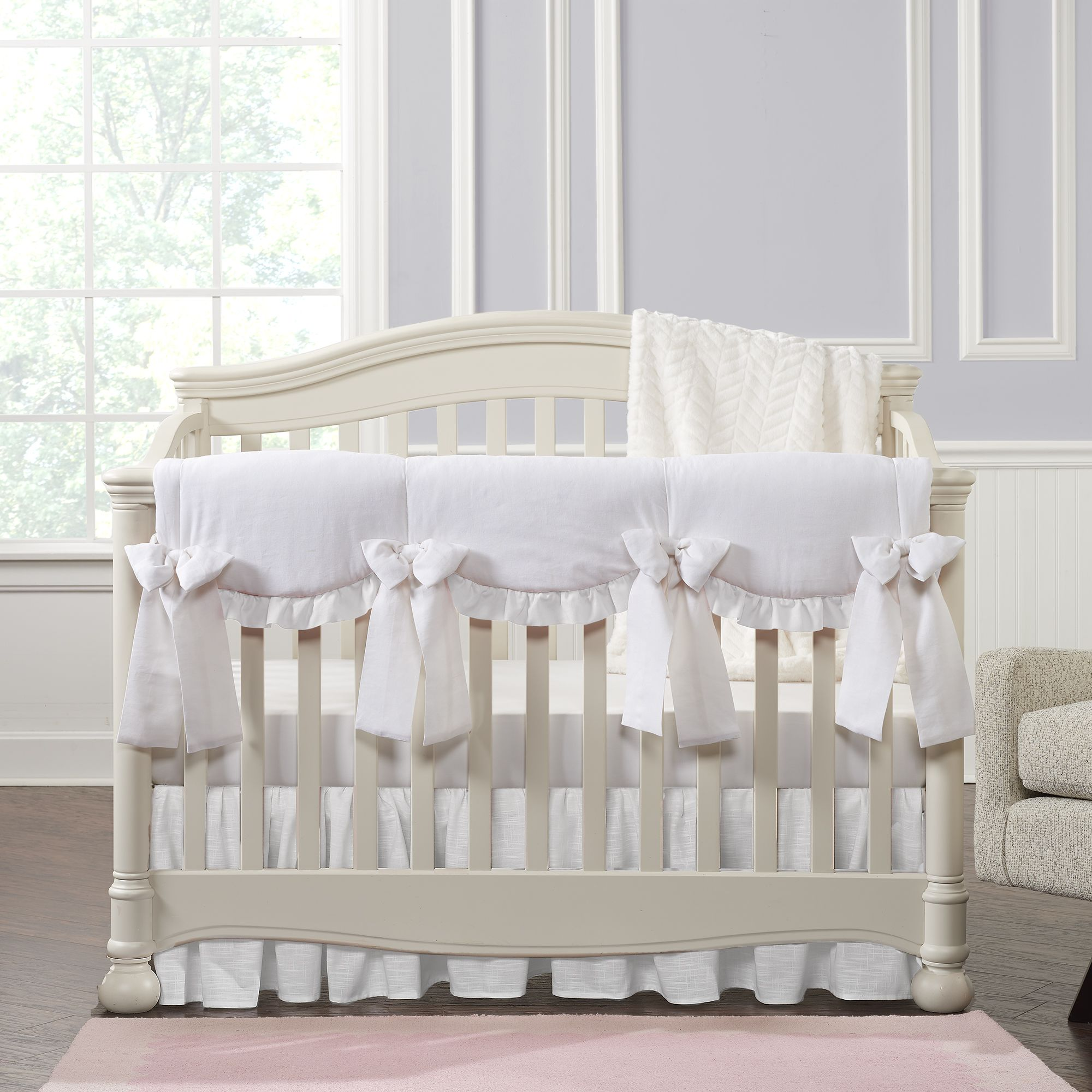 All White Crib Bedding Collection In 2020 White Crib Bedding