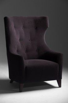 High Back Wing Chair Retro Sofa Couch Design Furniture Upholstery