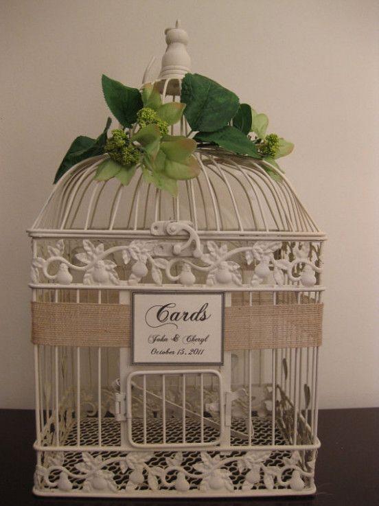 bird cage wedding card holder  wedding birdcage wedding