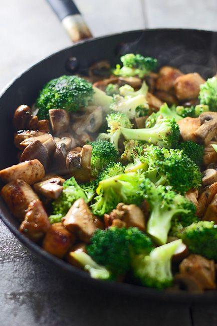 Hoisin Broccoli and Mushroom Stir-Fry