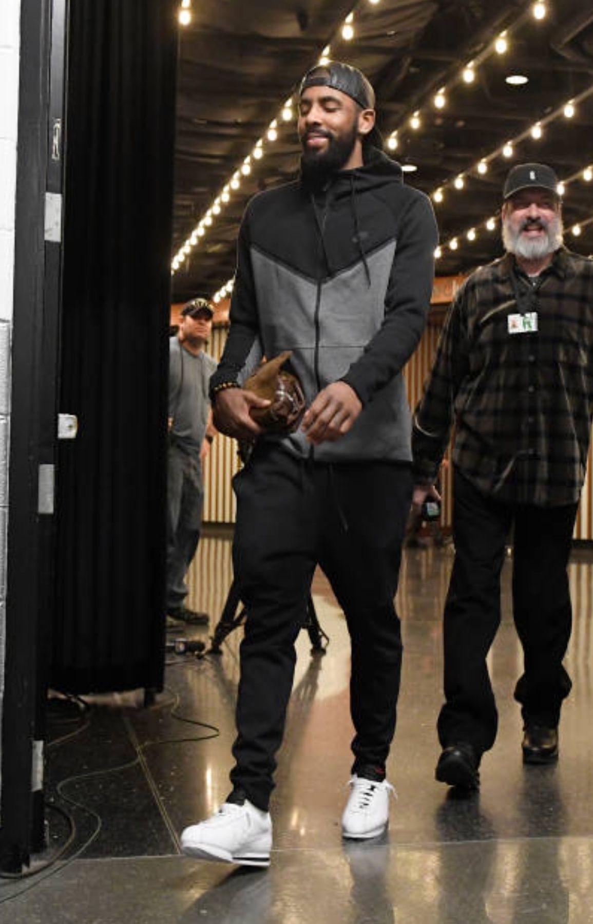 super popular cec7a 4aa65 Looks like #KyrieIrving has on the Kendrick Lamar x #Nike ...