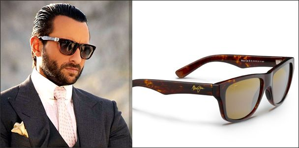 bca387483b9 Celebrity Saif Ali Khan wearing Maui Jim Wayfarer sunglasses in the movie  Race 2.