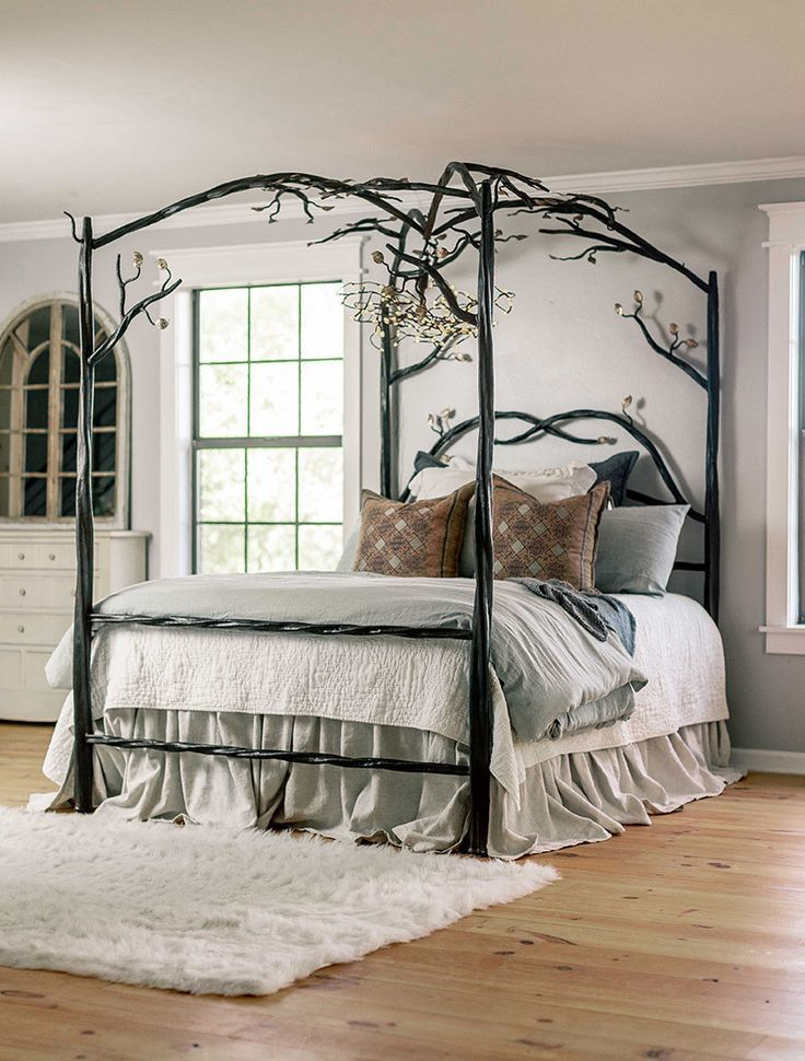 Elm Springs Wrought Iron Canopy Bed Iron Canopy Bed