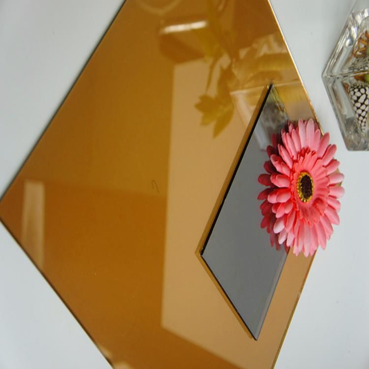 Wholesale 10mm Gold Bronze Reflective Colored Tempered Coating Solar Control Glass Glass And Aluminium Laminated Glass Bronze Color