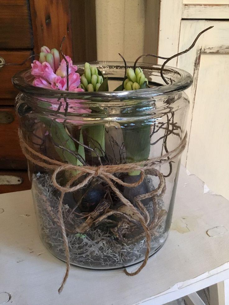 Frühling im Glas #dekofrühling