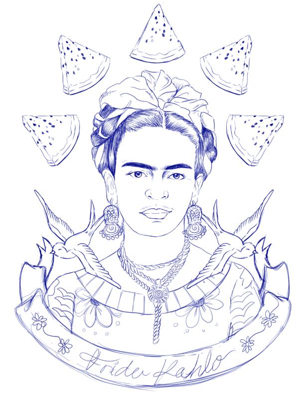 diego rivera coloring pages - dibujos para colorear de frida kahlo universe is