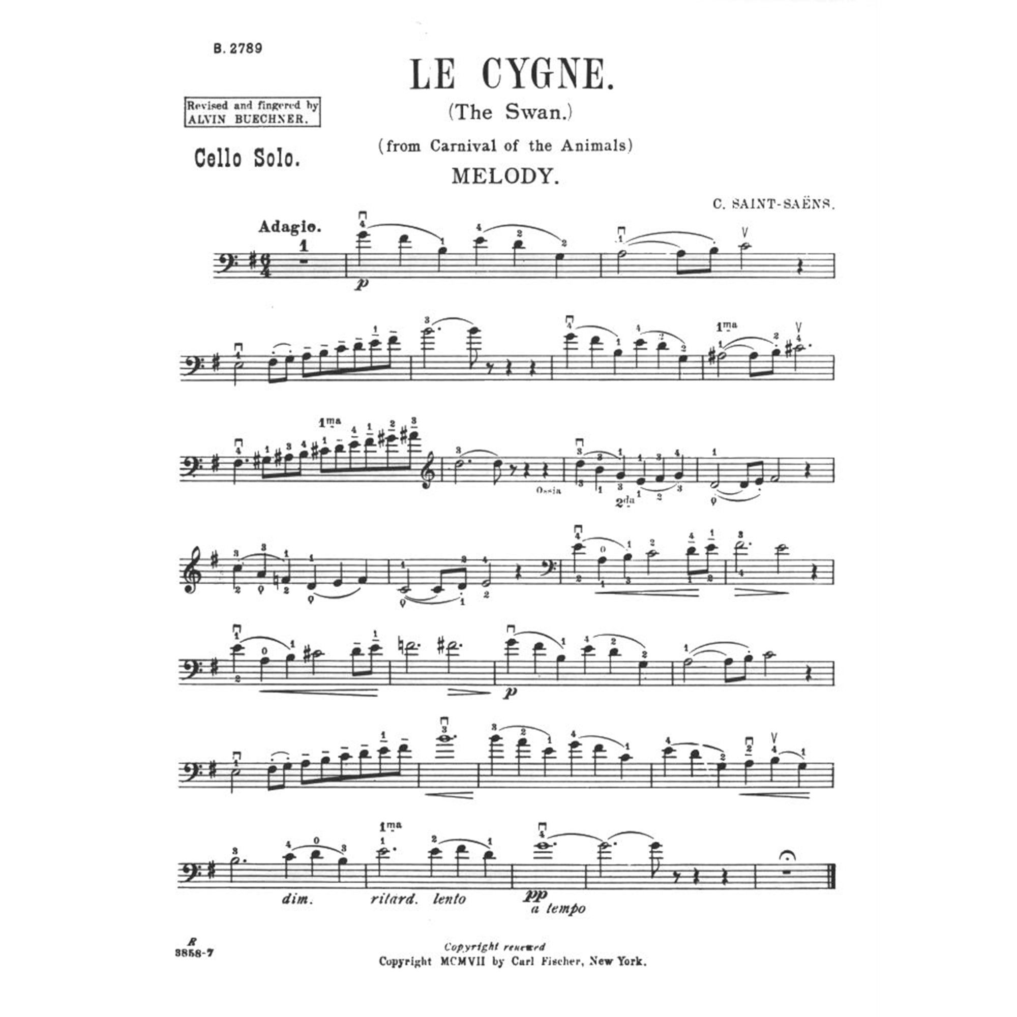 Saint-Saens, Camille - The Swan from