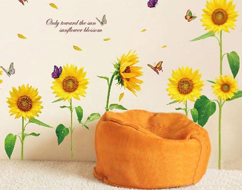 Wallpaper Gambar Bunga Matahari Kartun Wallpaper Gambar Bunga Matahari Kartun Gambar Bunga Wijaya Ku Stiker Dinding Gambar Bunga Menggambar Bunga Matahari